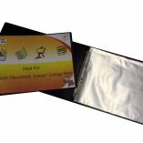 A3 deluxe landscape 4-D ring binder folder file art black presentation portfolio + 10 sleeves-0