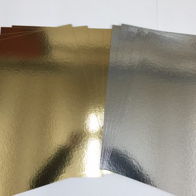 10 in a pack A1 + Gold & Silver Card Board Mirror - Xmas Metallic 1200micron 1.2mm-0