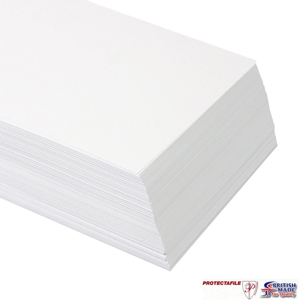 100 x A4  PREMIUM THICK WHITE PRINTER CRAFT CARD 250gsm