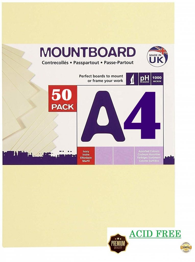 A4 Super Thick 1mm White Card 480gsm Beer Mat Craft Pulp Board For Mounting & Models (50 Sheets)